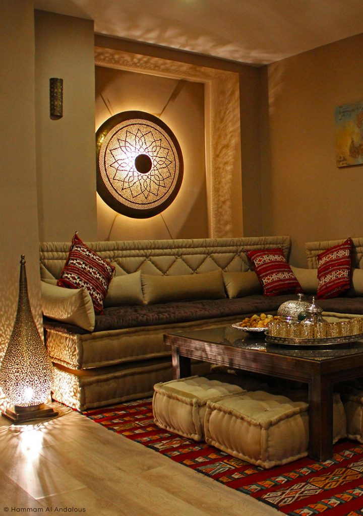 le salon marocain hammam al andalous. Black Bedroom Furniture Sets. Home Design Ideas