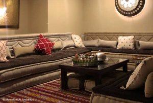 la décoration délicate du salon marocain
